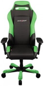 Fotel gamingowy DXRacer Seria Iron OH/IS11/NE czarno-zielony do 135 kg